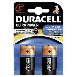 DURACELL Ultra Power C – Duralock – 1,5 V, LR14, MX1400, 1 Packung = 2 Stück