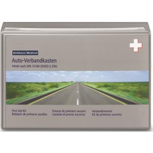 Klassik Verbandkasten, KFZ-Verbandkasten aus Kunststoff, Inhalt nach DIN 13164, Maße: 26 x 17 x 8 cm, Farbe: grau