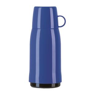 Haushalt & Küche EMSA Rocket Isolierflasche, Mit hochwertigem Glas-Isolierkolben, Fassungsvermögen: 500 ml, Farbe: blau