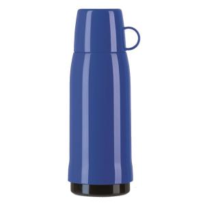 Haushalt & Küche EMSA Rocket Isolierflasche, Mit hochwertigem Glas-Isolierkolben, Fassungsvermögen: 750 ml, Farbe: blau