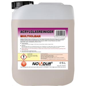 Reinigungsprodukte NOVADUR Acrylglasreiniger Multi Clean, Für die Reinigung von Acryl-Glas, 5 l - Kanister