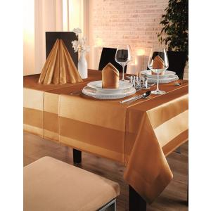 Gözze TOCCATA-Atlaskante, Tischdecke, 130 x 40 cm, Vollzwirn-Damast, koch- und chlorecht, Farbe: orange