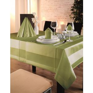 Gözze TOCCATA-Atlaskante, Tischdecke, 130 x 40 cm, Vollzwirn-Damast, koch- und chlorecht, Farbe: limone