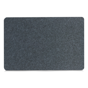 Tischwäsche Zeller Filzplatzset, 45 x 30 cm, Deko und Schutz vor Beschmutzung und Beschädigungen, 1 Packung = 12 Stück, Farbe: anthrazit