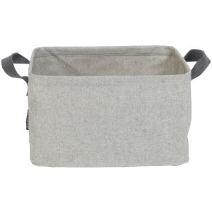 Brabantia faltbarer Wäschekorb 35 Liter, Platz für eine komplette Waschmaschinenladung, Farbe: grau, Maße: 26 x 44 x 37 cm