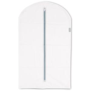 Brabantia Kleiderschutzhüllen, Transparent, Schützt die Kleidung vor Staub und Motten, 1 Packung = 2 Stück, Größe M
