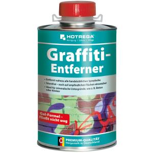 HOTREGA® GmbH HOTREGA Graffiti-Entferner, zur Entfernung von Spraylacken, 1000 ml - Dose H110260001