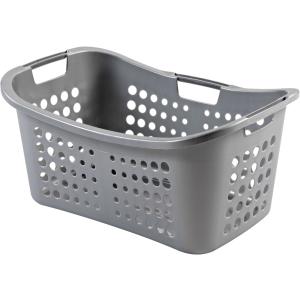 Körbe, Behälter, Schüsseln & Boxen CURVER VICTOR Wäschekorb , Wäschebehälter aus Kunststoff, Farbe: silber