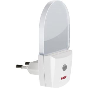reer GmbH reer LED-Nachtlicht, mit Dämmerungssensor, Modernes Nachtlicht im dezenten Design, 1 Stück, weiß 5061