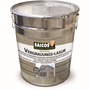 SAICOS COLOUR GmbH SAICOS Vergrauungslasur, graphitgrau, Egalisiert den Übergang zu einer natürlichen Holzvergrauung, 10 Liter - Eimer 7620701
