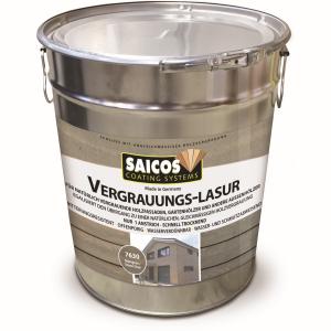 SAICOS COLOUR GmbH SAICOS Vergrauungslasur, steingrau, Egalisiert den Übergang zu einer natürlichen Holzvergrauung, 10 Liter - Eimer 7630701