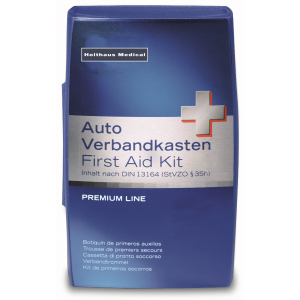 Verbandkasten Premium Auto, Inhalt nach DIN 13 164, Farbe: blau