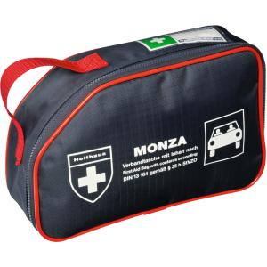 MONZA Verbandtasche, 5-eckige Verbandtasche für Kraftfahrzeuge aus Nylon, DIN 13 164