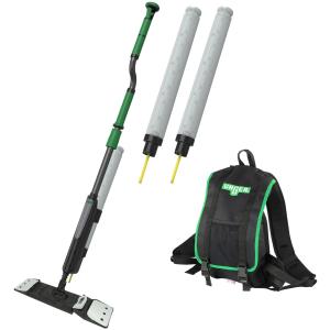 UNGER erGO! wax Bodenbeschichtungs-Set Taschenmopp, Effizienter als je zuvor! Ultraschnell & ergonomisch mit nur einer Person, 1 Set
