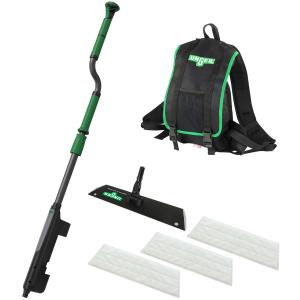 UNGER erGO! wax Bodenbeschichtungs-Set Klettmopp, Effizienter als je zuvor! Ultraschnell & ergonomisch mit nur einer Person, 1 Set