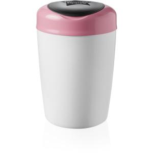 Sangenic Simplee Windeleimer, Für eine einfache und schnelle Windelentsorgung, Farbe: weiß / pink