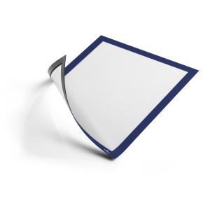 DURABLE DURAFRAME® MAGNETIC A4 Info-Rahmen, Geeignet für Dokumente und Aushänge auf metallischen Oberflächen, 1 Beutel = 5 Stück, Farbe: blau