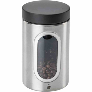 GEFU PIERO Kaffeepad-Dose , Der perfekte Aufbewahrungsort für Kaffeebohnen, gemahlenen Kaffee oder Pads, Für 250 g Kaffee, 20 Kaffeekapseln oder 20 Kaffeepads
