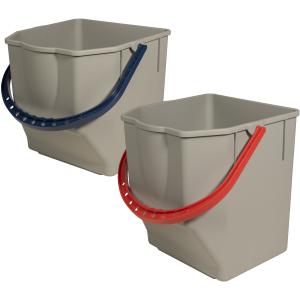 Sprintus Ersatzeimer-Set, Für Sprintus CombiX Doppelfahreimer, 2 x 25 Liter - Eimer, blau / rot