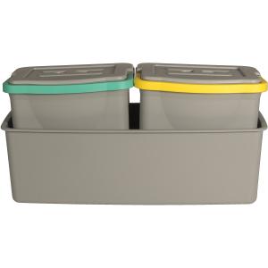 SPRINTUS Eimer-Set, 3-teilig, Das Eimer-Set besteht aus zwei 6 Liter Eimern mit Deckel und einer Wanne, 1 Set