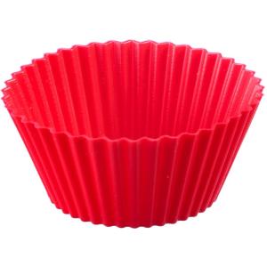 WESTMARK Silikon Muffinformen, rot, Mit Antihaft-Effekt, 1 Packung = 6 Stück