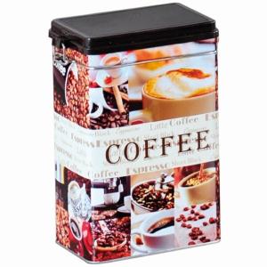 Kesper Kaffeedose, Aus Metall, zur Aufbewahrung von Kaffee, Maße: 14 x 8,5 x 19,5 cm