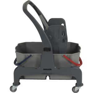 Sprintus CombiX Doppelfahreimer, Mit praktischer Ablage für den Mopphalter, 2 x 25 Liter Eimer