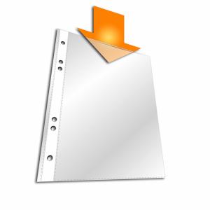 DURABLE A5 Prospekthülle, oben offen, Klarsichthülle zur praktischen Ablage ungelochter Unterlagen in Ordern und Ringb, 1 Packung = 25 Stück