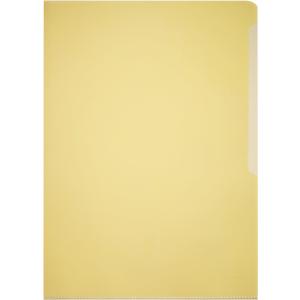 DURABLE A4 Sichthülle aus Hartfolie, Klarsichthülle strapazierfähig und reißfeste, 1 Packung = 50 Stück, Farbe: gelb