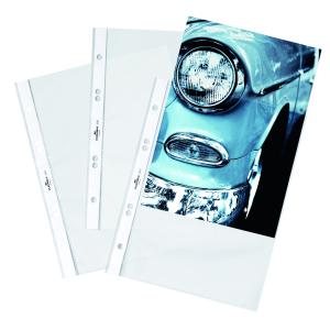 DURABLE A5 Prospekthülle, glasklar, Dokumentenechte Prospekthülle aus Polypropylen, 1 Packung = 25 Stück