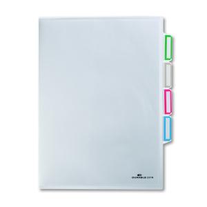 DURABLE Organisationshülle, Klarsichtfolie sorgt für die Ordnung der losen Dokumente, 1 Packung = 5 Stück