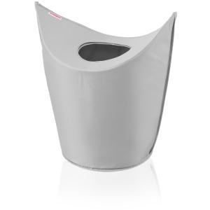 LEIFHEIT Wäschesammler, Wäschekorb zum leichten Befüllen und zwei Tragegriffen zum leichten Transport, Farbe: grau