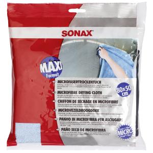 Sonax GmbH SONAX MicrofaserTrockenTuch, 80x50cm, Hochwertiges, sehr dickes und weiches Trockentuch, 1 Mikrofasertuch 04508000