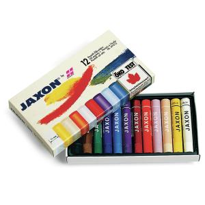 Jaxon pastell Ölkreide, Pastellkreide perfekt für den Kunstunterricht in der Schule, 1 Packung = 12 Stück, farbig sortiert 47412