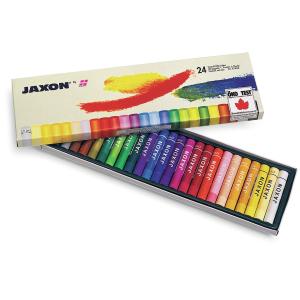 Jaxon pastell Ölkreide, Pastellkreide perfekt für den Kunstunterricht in der Schule, 1 Packung = 24 Stück, farbig sortiert 47424