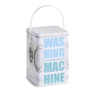 Zeller Present Handels GmbH Zeller Washing machine Waschpulver-Box, Waschpulverbehälter mit Tragegriff, Maße: ca. 15 x 15 x 21 cm 19216
