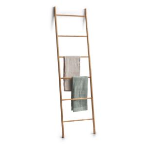 Zeller Bamboo Leiter-Handtuchhalter, Handtuchstange in Leiterform aus Bambus, Maße: ca. 50 x 3,5 x 182,5 cm