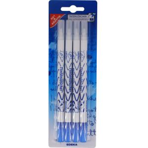 Tintenlöscher, Tintenlöschstift löscht blaue Tinte und überschreibt in blau, 1 Packung = 4 Stück, farbig sortiert 2613013002