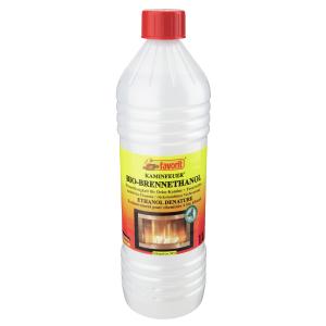 Alschu-Chemie GmbH Favorit Bio-Ethanol Brennflüssigkeit , Brennflüssigkeit für Deko-Kamine und Feuerstellen, 1 Liter – Flasche 1802