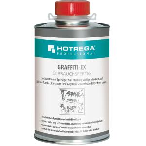 HOTREGA® GmbH HOTREGA® PROFESSIONAL Graffiti-Ex Spraylackentferner, Spezialgel zur Entfernung von Spraylacken und wasserfesten Filzstiften, 1 Liter - Dose 6308-1