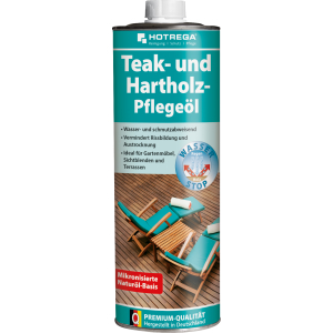 HOTREGA® GmbH HOTREGA® Teakholz-Pflegeöl, Lösungsmittelfreies, geruchloses Pflegeöl, 1000 ml - Flasche H230210001