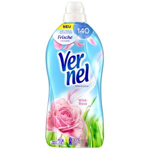 Henkel AG & Co. KGaA Vernel Wild-Rose Weichspüler , Konzentrat mit natürlichen Rosen-Essenzen, 1,8 Liter - Flasche 433500