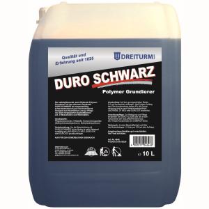 Dreiturm DURO SCHWARZ - Polymer-Grundierer, Selbstglänzender stark färbender Grundierer, 10 l - Kanister