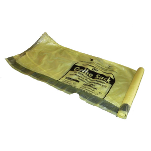 "WBV-Oelde GmbH & Co.KG Müllsack ca. 70 l, ""Gelber Sack"", 620 x 880 + 50 mm, Stärke: ca. 15 my, 1 Karton = 50 Rollen à 13 Stück = 650 Stück"