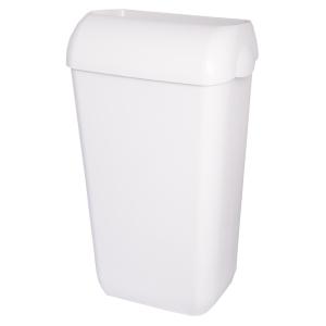 Abfallbehälter, Kunststoff, Inhalt: 25 Liter, mit Deckel, Farbe: weiß