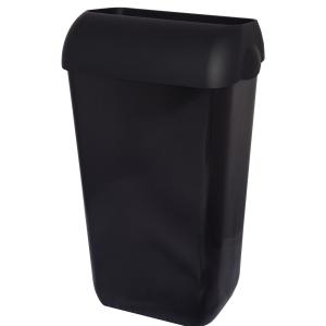 Abfallbehälter, Kunststoff, Inhalt: 25 Liter, mit Deckel, Farbe: schwarz