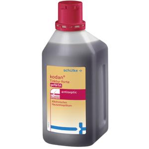 Schülke kodan® Tinktur forte Hautantiseptikum, gefärbt, Alkoholisches Hautantiseptikum, 1000 ml - Flasche