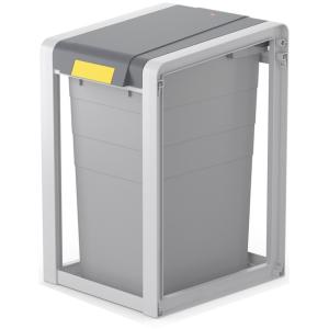 Hailo Werk Hailo ProfiLine Öko XL Mülltrennsystem, 38 Liter, Flexibles Mülltrennsystem inkl. Farbsticker zur Müllsorten-Kennzeichnung, Maße (B x H x T): 35,5 x 56,5 x 41 cm 0935-202