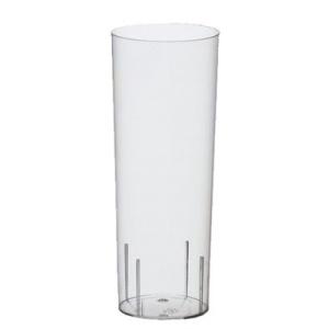 Papstar Gläser für Longdrinks aus Polystyrol, Füllinhalt: 0,3 l, Ø 5,85 cm, Höhe: 15,2 cm, 1 Karton = 96 Stück, glasklar